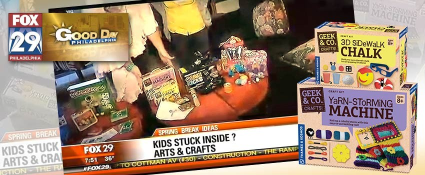 Geek & Co Crafts Featured on FOX 29's Spring Break Ideas