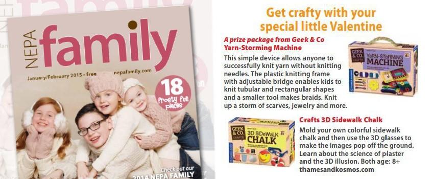 Geek & Co. Craft Line in Nepa Family Magazine