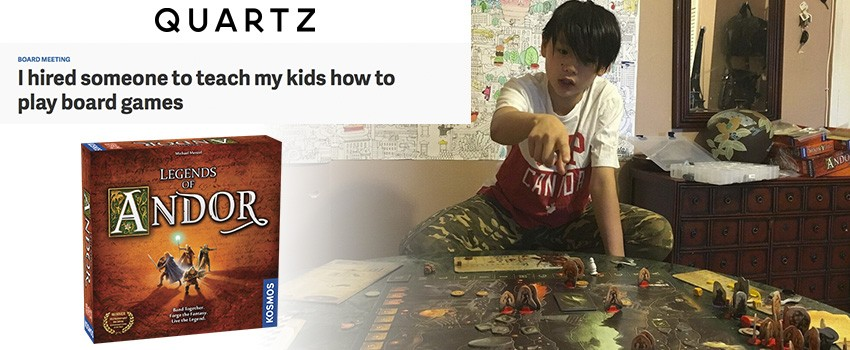 Teaching kids how to play board games (Legends of Andor)
