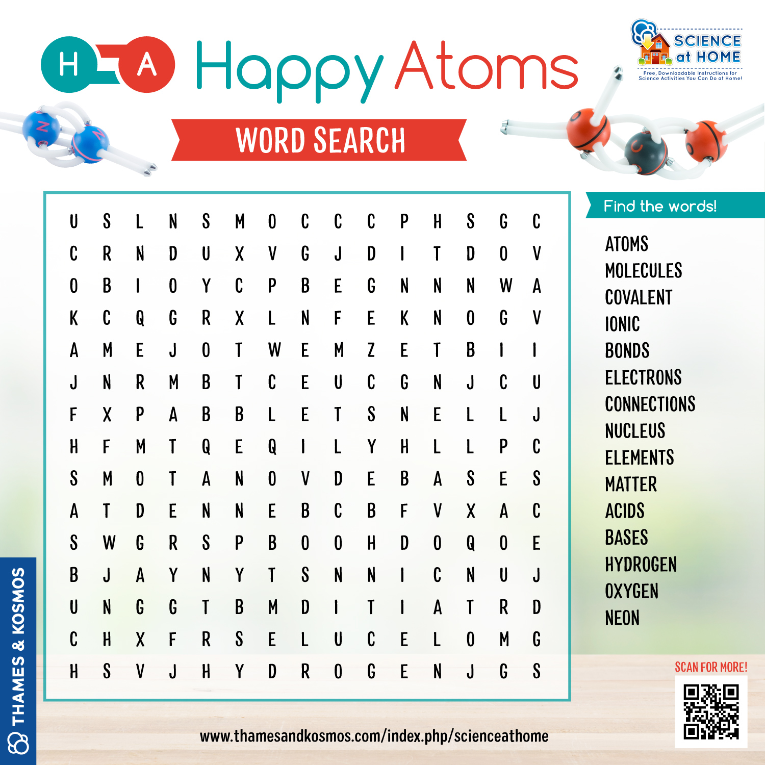 happy atoms wordsearch