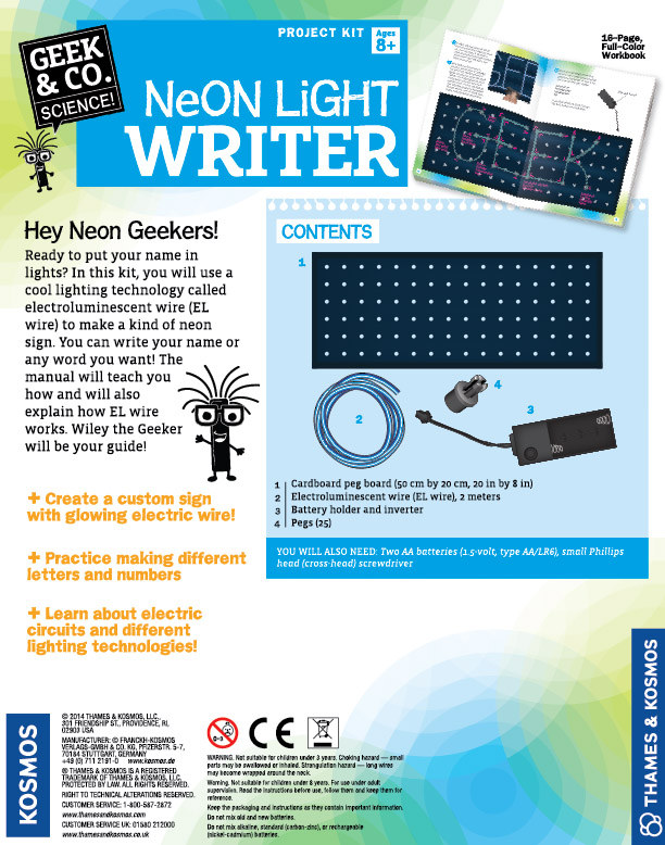 Neon Light Writer Product Image Downloads - Thames & Kosmos