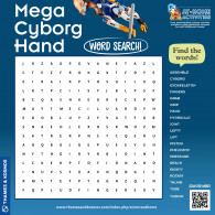 Mega Cyborg Hand Word Search (ACTIVITY)