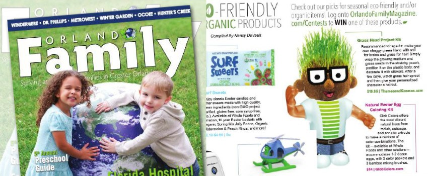 Grass Head in Orlando Family Magazine