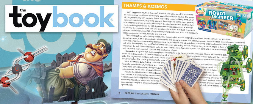 New 2016 toys and games from T&K featured in The Toy Book!