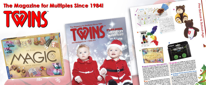 Magic: Gold Edition Makes TWINS Magazine's Holiday Gift Guide