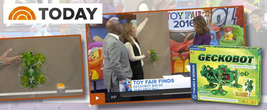 Geckobot crawls up a wall on the Today Show