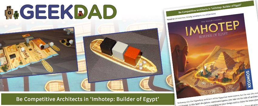GeekDad's verdict: Imhotep is 'excellent'