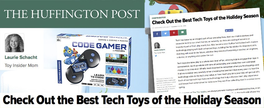 Huffington Post: CodeGamer is one of the Best Tech Toys for the holidays