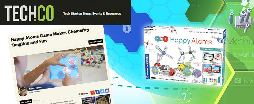 Tech.Co covers the Happy Atoms Indiegogo campaign